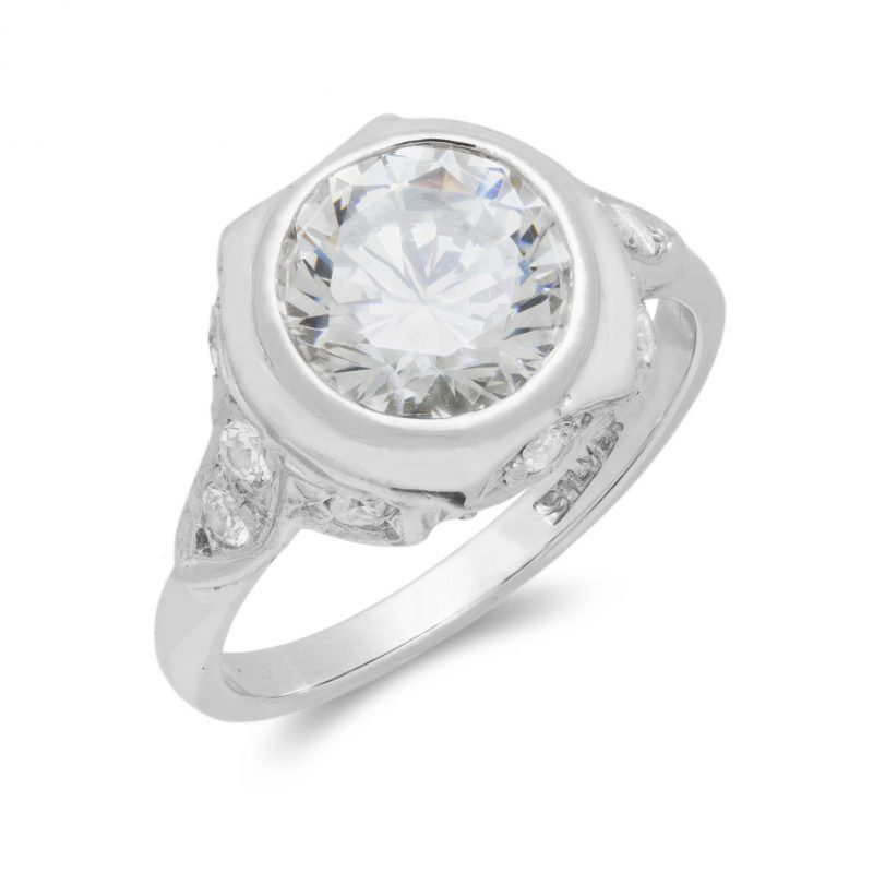 cubic zirconia - ring - sterling silver - HC Jewellers - Royston
