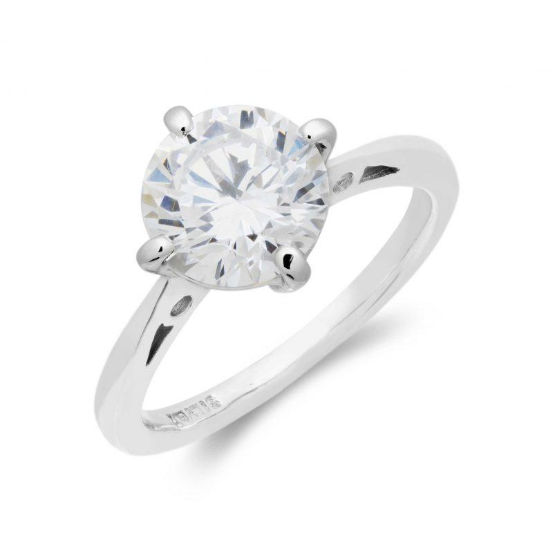 silver ring - cubic zirconia - HC Jewellers - Royston