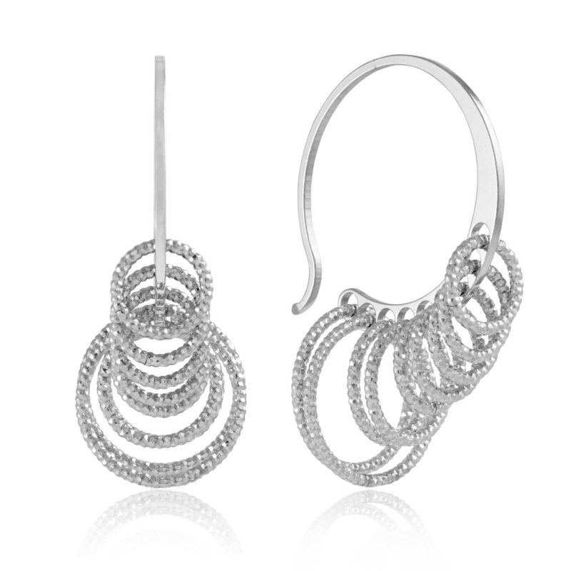 circle hoop earrings - silver earrings - HC Jewellers