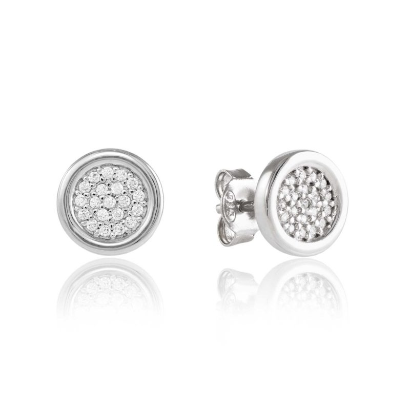 silver studs - silver earrings - cubic zirconia - HC Jewellers - Royston
