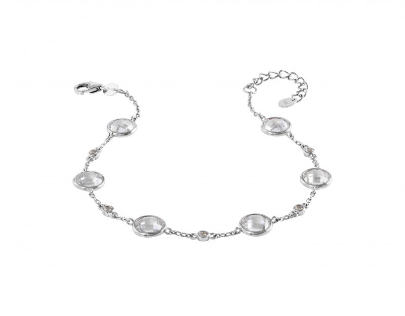 cubic zirconia bracelet - silver bracelet - HC Jewellers