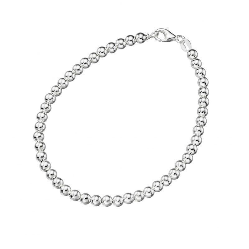 silver-bracelets-bead-link-chain