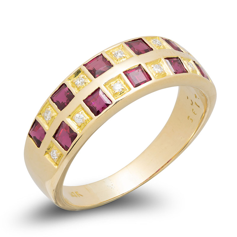 pre-owned-14ct-gold-ring-ruby-diamond
