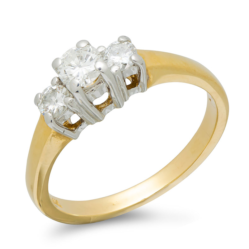 pre-owned-14ct-yellow-white-gold-diamond-three-stone-ring