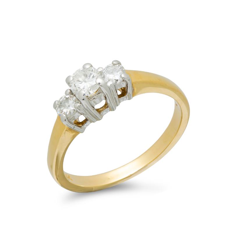 pre-owned-14ct-yellow-white-gold-diamond-three-stone-ring
