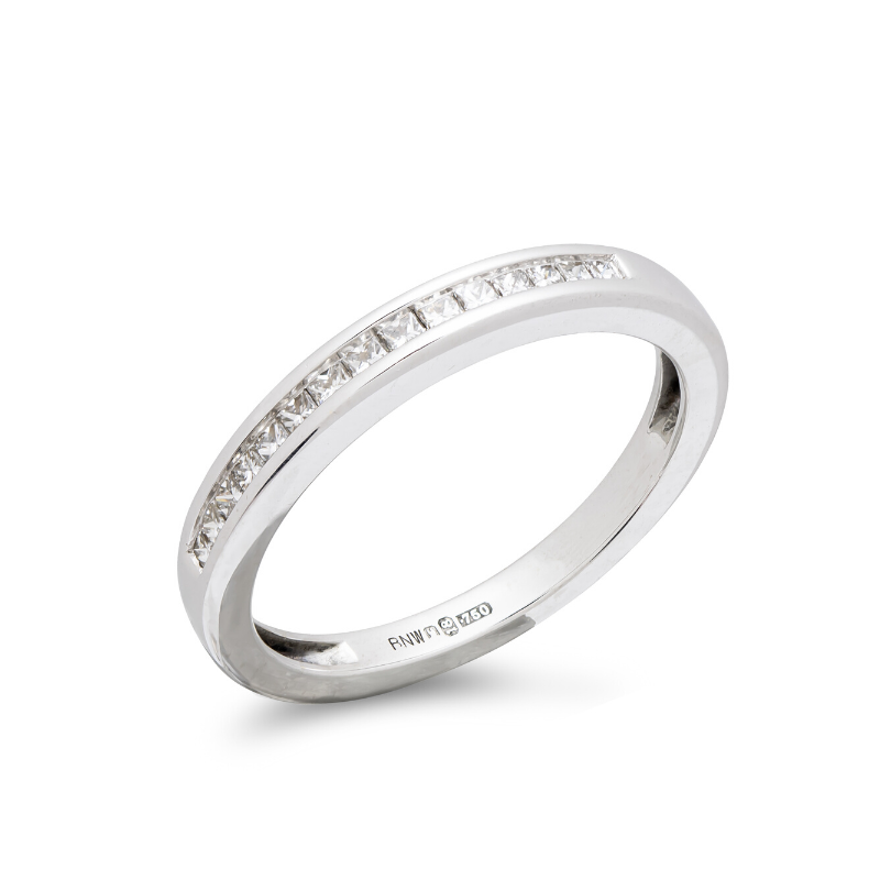 Pre-owned-18ct-White-Gold-Diamond-Half-Eternity-Ring
