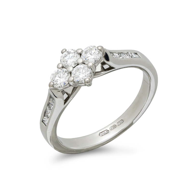 Pre-owned-18ct-White-Gold-Diamond-Set-Ring