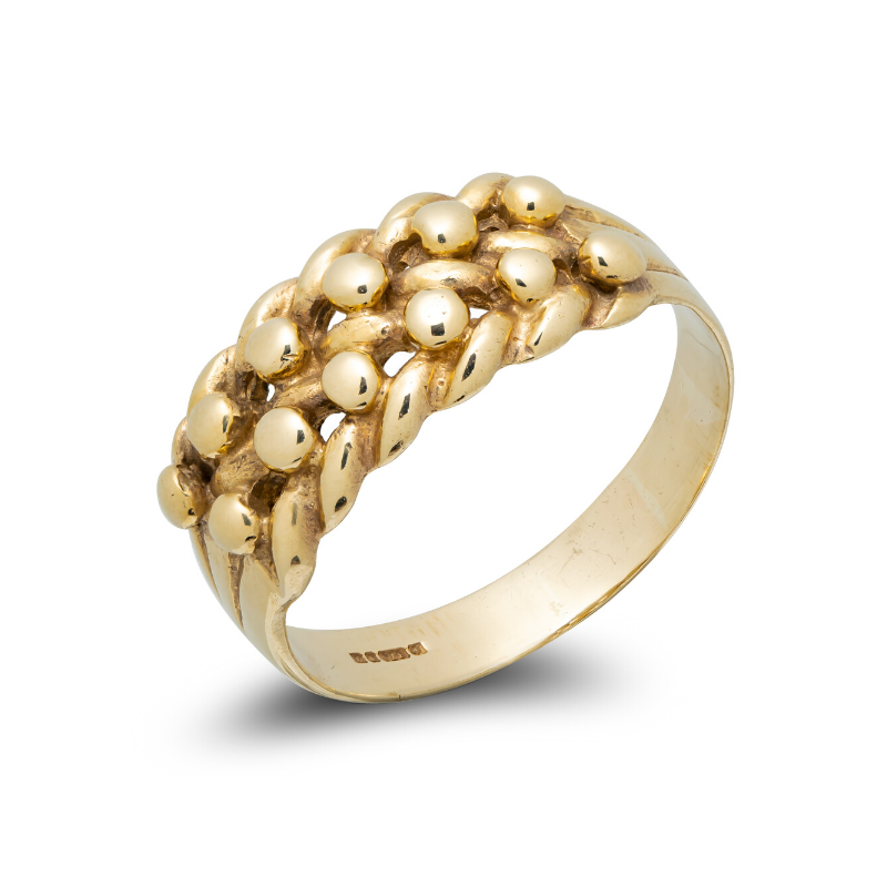 Pre-owned-9ct-Gold-Keeper-Ring