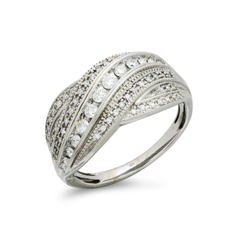 pre-owned-9ct-white-gold-diamond-set-ring