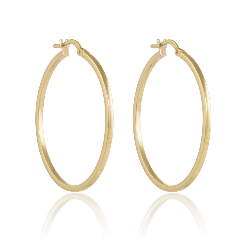 Gold Hoop Earrings 30mm