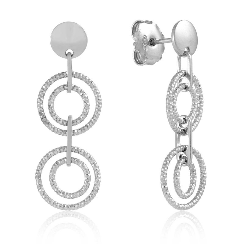 silver-double-circle-conical-drop-sterling-silver-earrings