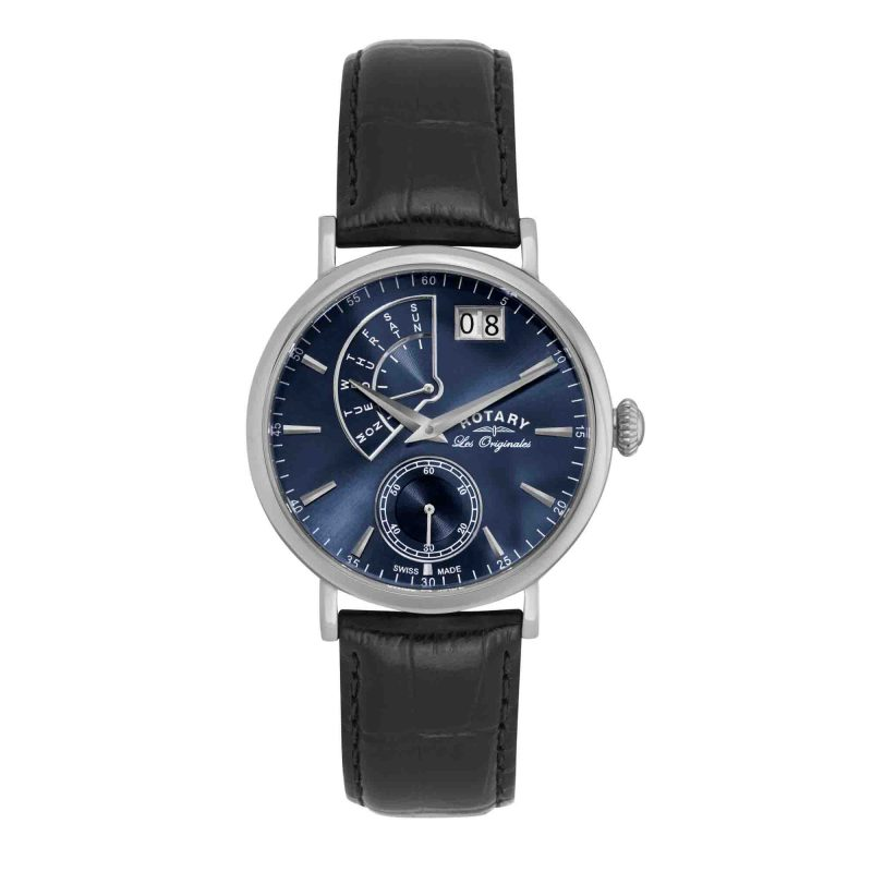 Rotary-men's-watch - les originales - large day / date - HC Jewellers - Royston