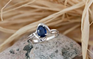 Bespoke white gold sapphire ring