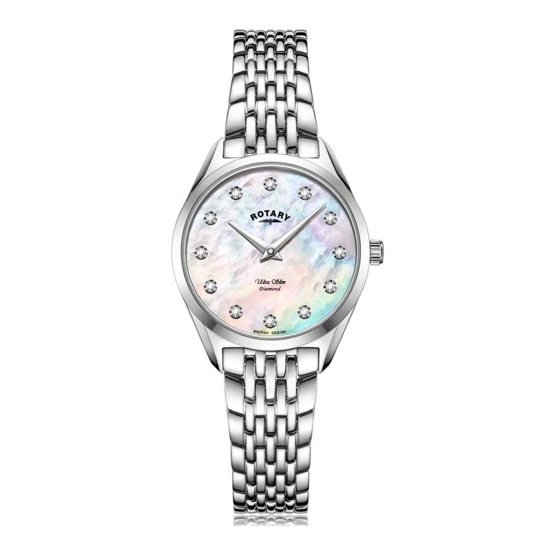 ladies - watch - rotary - ultra slim - stainless steel - HC Jewellers - Royston