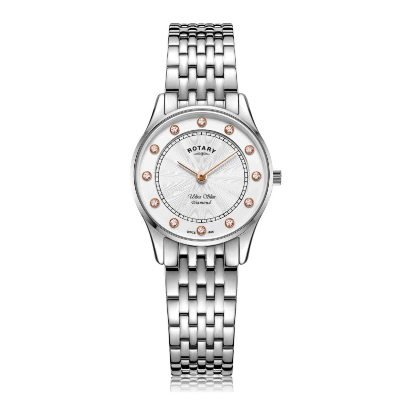 rotary ladies watch - untra slim - stainless steel - HC Jewellers - Royston