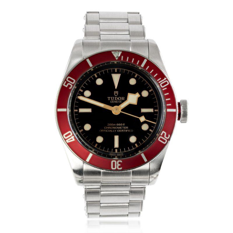 tudor watch - black bay - 79230R - stainless steel - HC Jewellers - Royston