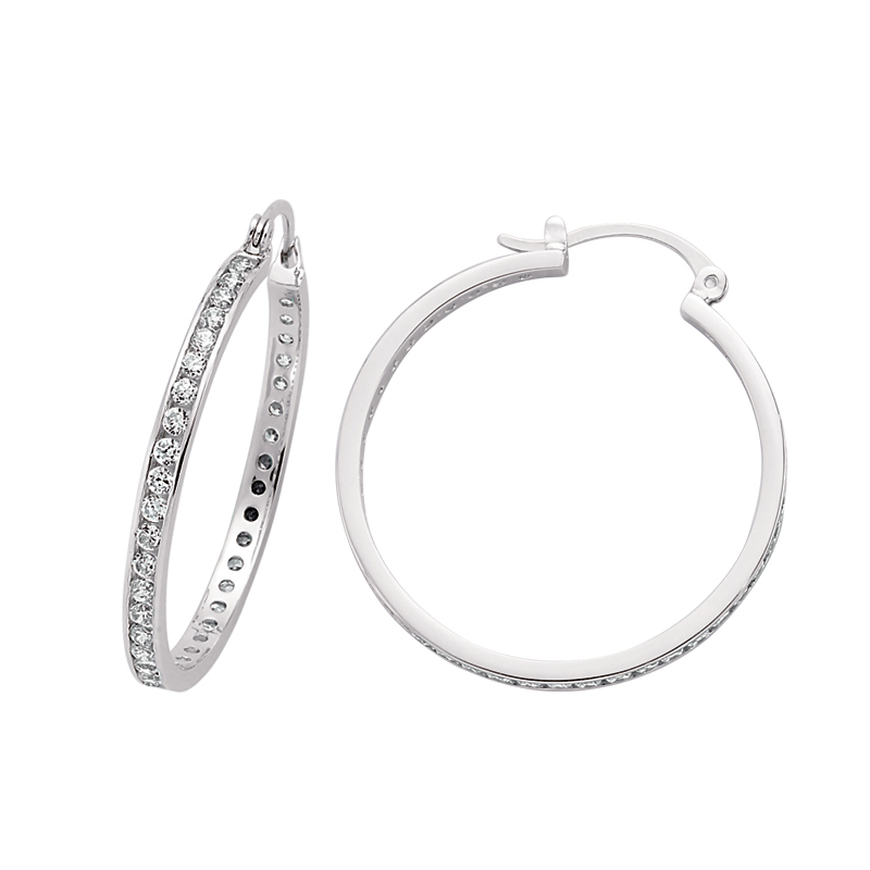 silver hoop earrings HC Jewellers Royston