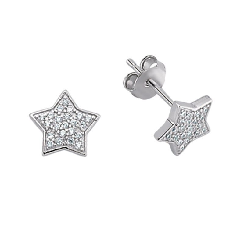 Star Earrings - Sterling Silver - HC Jewellers - Royston