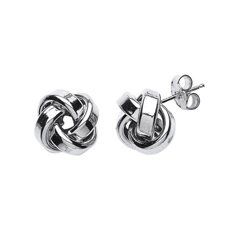 Silver Knot Earrings - Sterling Silver - Silver earrings - HC Jewellers