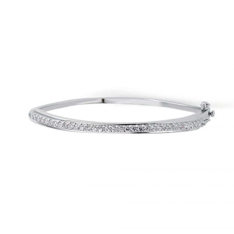 silver bangle - sterling silver - HC Jewellers