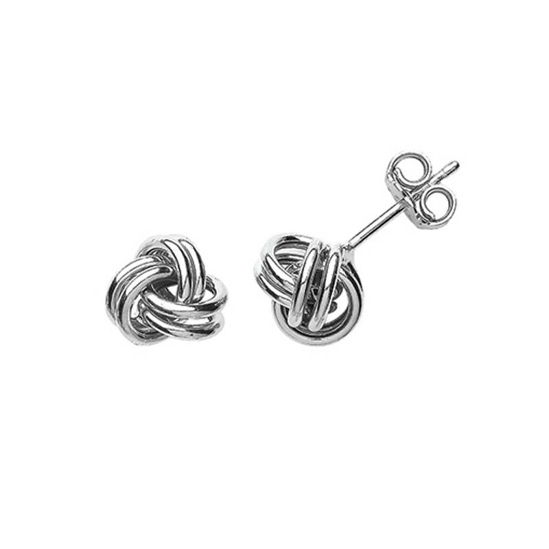 sterling silver stud earrings - silver earrings - HC Jewellers - Royston