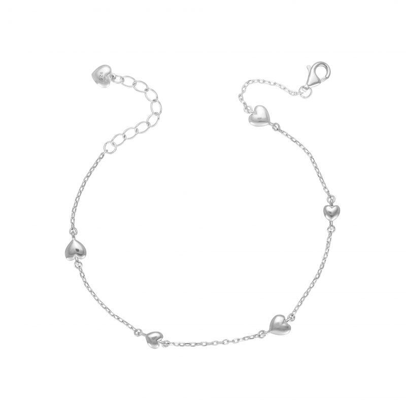 Heart bracelet - silver bracelet - sterling silver - HC Jewellers - Royston