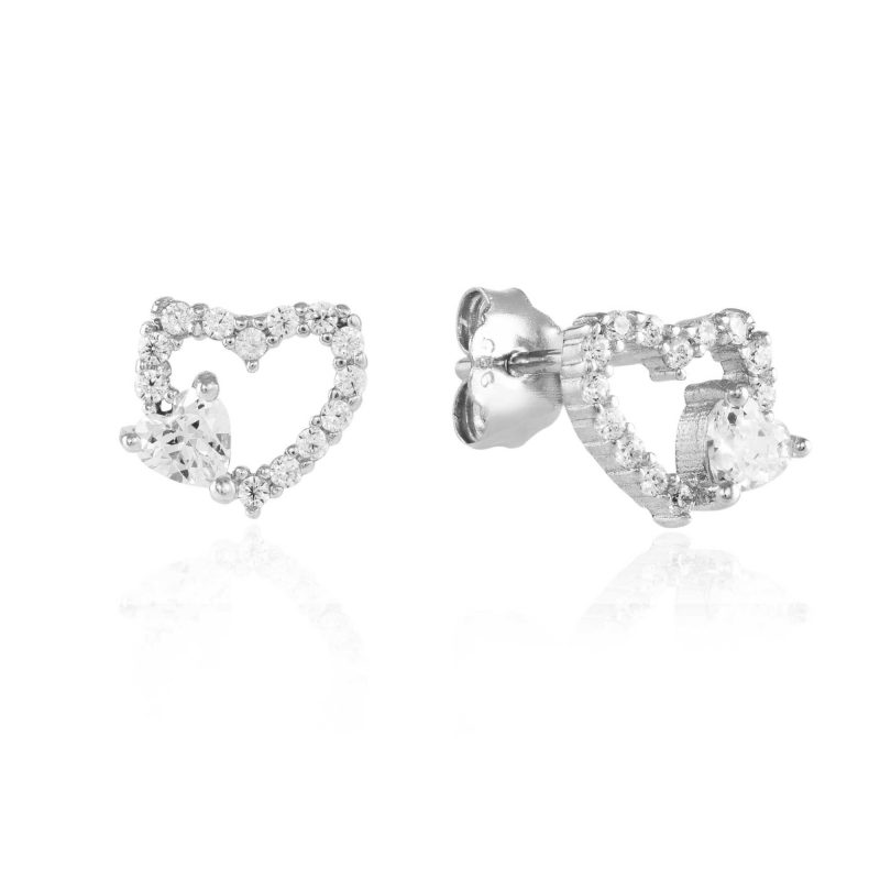 cubic zirconia studs - silver earrings - HC Jewellers - Royston