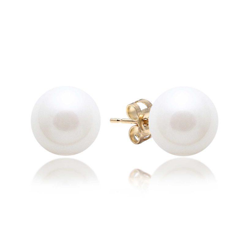 pearl stud earrings - gold earrings - HC Jewellers - Royston