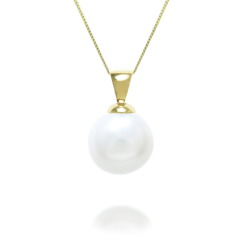 gold pearl pendant - pearl jewellery - gold pendant - HC Jewellers - Royston