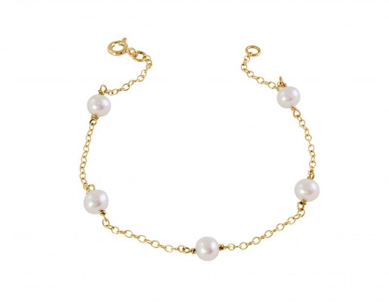 Pearl bracelet - gold bracelet - 9ct - HC Jewellers - Royston
