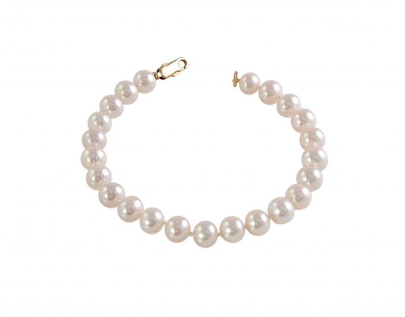 gold pearl bracelet - gold bracelet - 9ct - HC Jewellers - Royston