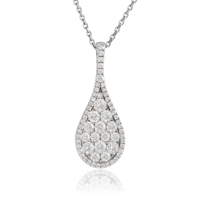 diamond pendant - white gold pendant - HC Jewellers - Royston