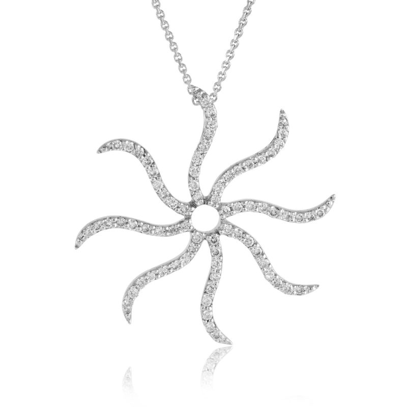 white gold diamond pendant - diamond pendant - white gold pendant - HC Jewellers - Royston