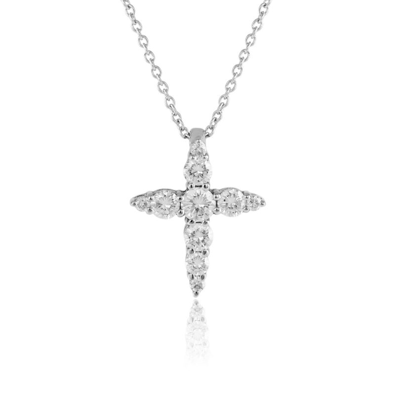 18ct diamond pendant - white gold pendant - diamond pendant - HC Jewellers - Royston