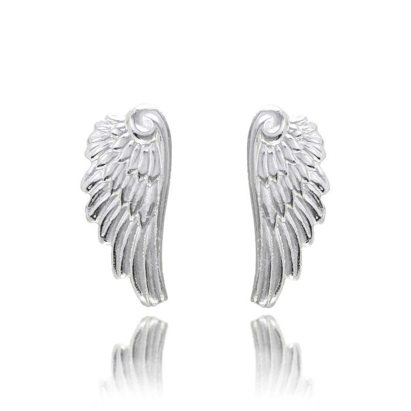 silver angel stud earrings - silver earrings - silver studs - HC Jewellers - Royston