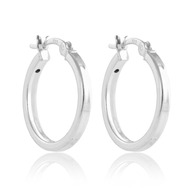 small hoop earrings - silver - sterling silver - HC Jewellers - Royston