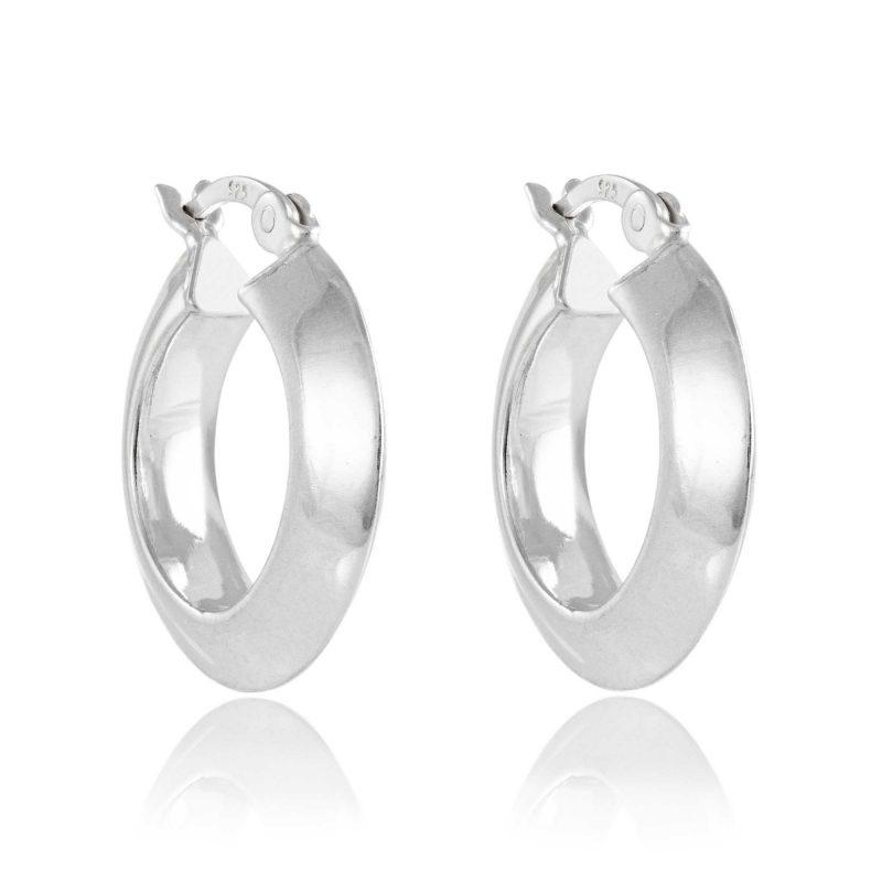 pointed hoop earrings - sterling silver - HC Jewellers - Royston