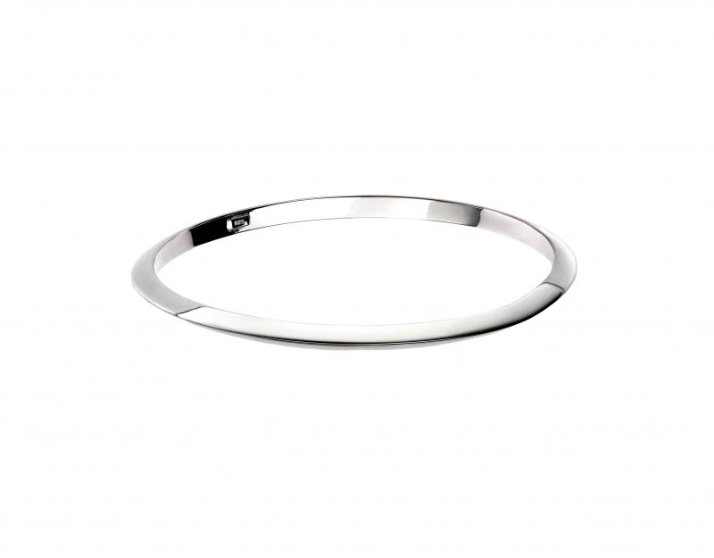 silver apex bangle - sterling silver - HC Jewellers - Royston