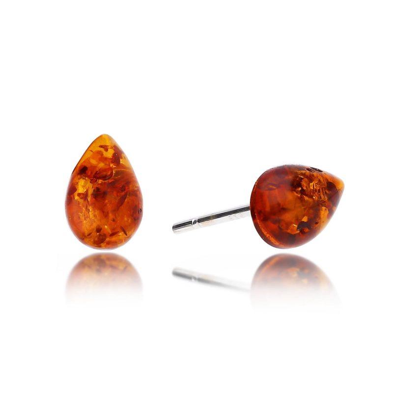 amber studs - baltic amber - HC Jewellers - Royston