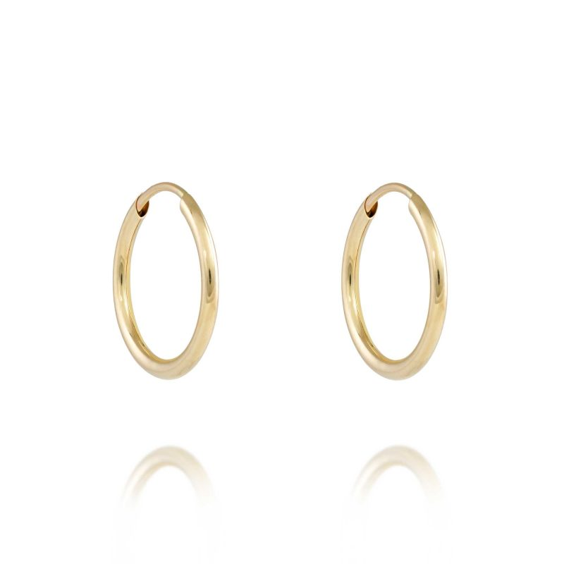 gold sleeper earrings - 9ct Gold - HC Jewellers