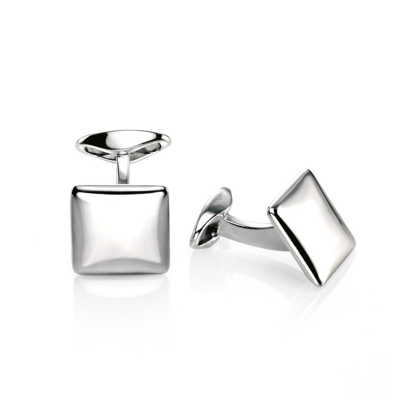 Cufflinks - sterling silver - fred bennet - square - HC Jewellers - Royston