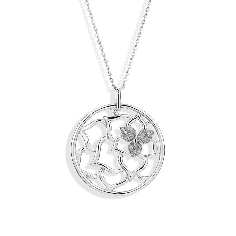 Desert Flower silver statement Pendant