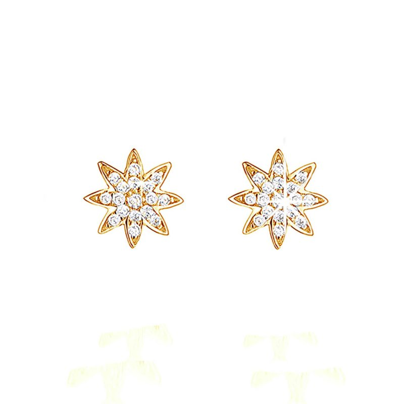 Gold Plated - Nova Small Stud Earrings