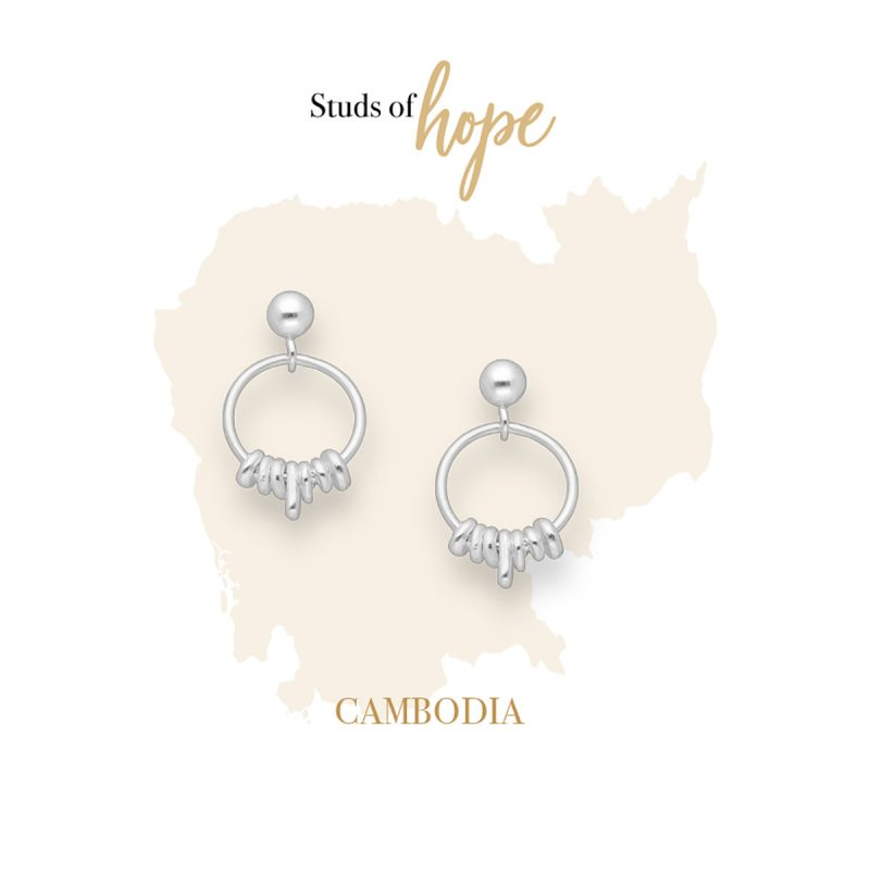 Silver Hoops On Hoops - Stud Earrings in Sterling Silver