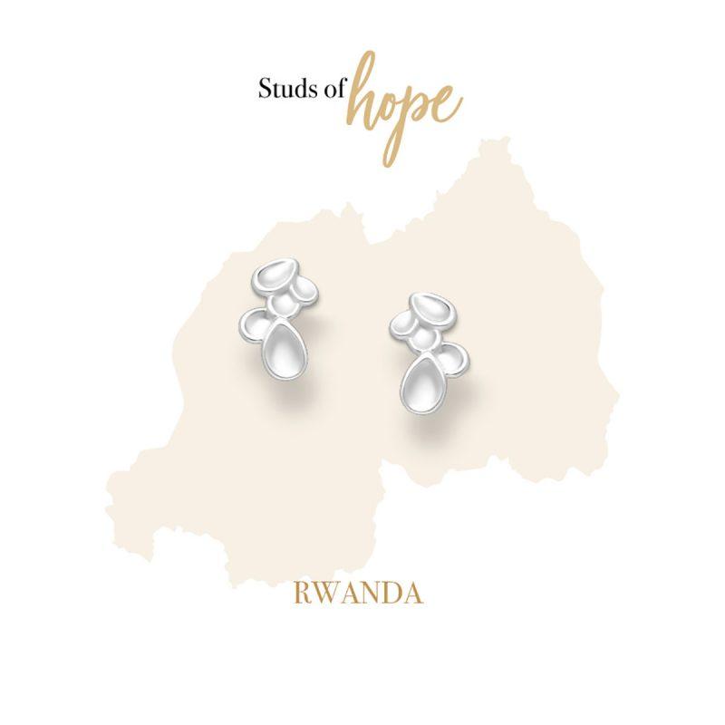 Petal Cluster - Stud Earrings in Sterling Silver