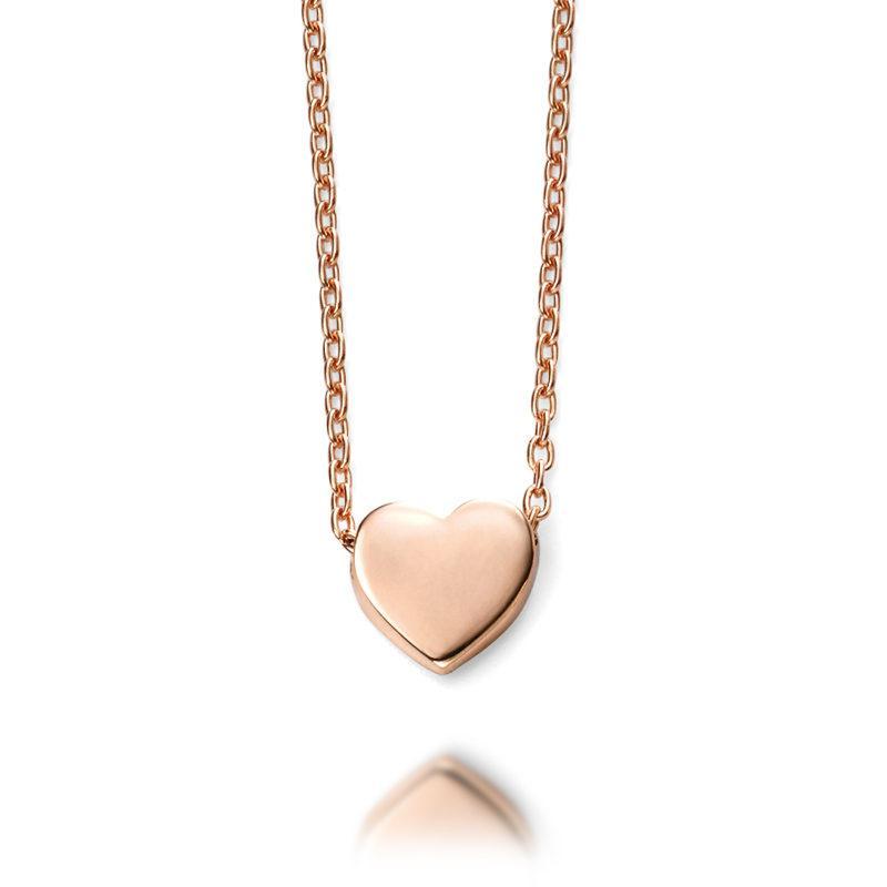 Ladies-rose-gold-heart-necklet-pendant