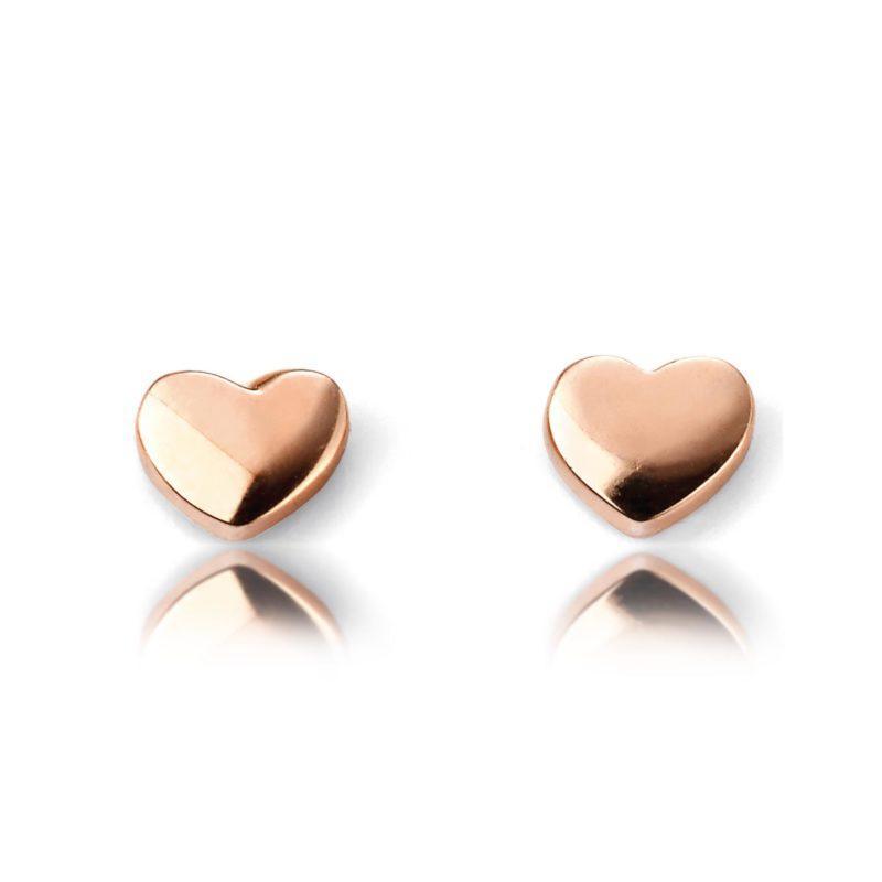ladies-rose-gold-heart-stud-earrings