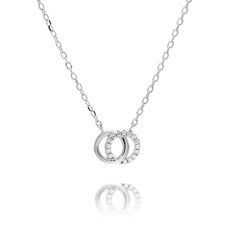 Silver Intwined Circle Pendant with chain