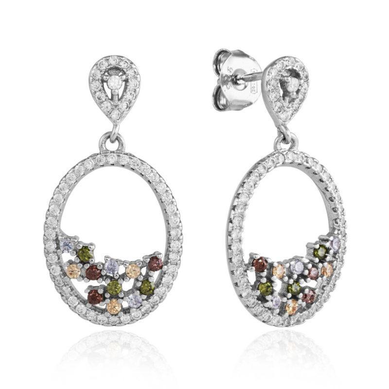 multicolour drop earrings