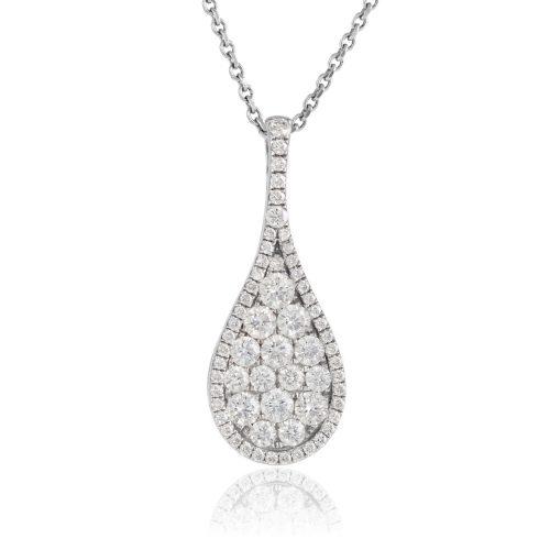 diamond pendant - white gold pendant - HC Jewellers - Royston